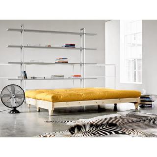 Banquette convertible FRESH pin coloris jaune couchage 140*200 cm.