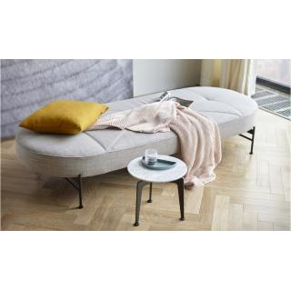 Banquette design FILUCA tissu Linen Ash Grey lit 80*200