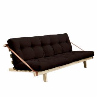Banquette futon JUMP en pin massif coloris marron couchage 130 cm.