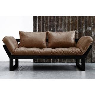 canap convertible au meilleur prix banquette m ridienne noire edge futon en tissu enduit. Black Bedroom Furniture Sets. Home Design Ideas