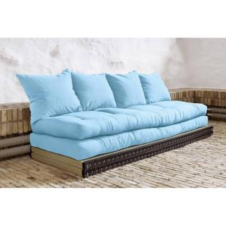 Banquette convertible tatami CHICO matelas futon celeste couchage 2 x 70*200cm