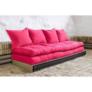 Banquette convertible tatami CHICO matelas futon magenta couchage 2 x 70*200cm