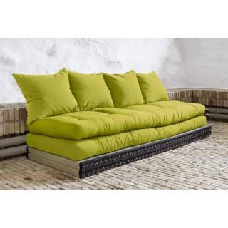Banquette convertible tatami CHICO matelas futon vert pistache couchage 2 x 70*200cm