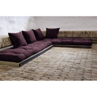 Banquette convertible tatami CHICO matelas futon violet couchage 2 x 70*200cm