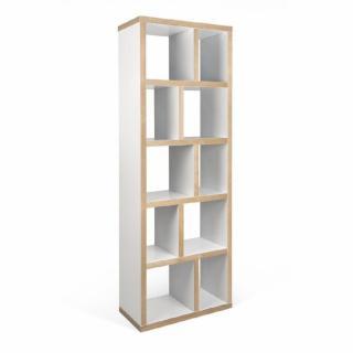 TemaHome BERLIN bibliothèque 5 niveaux blanche mate et bois