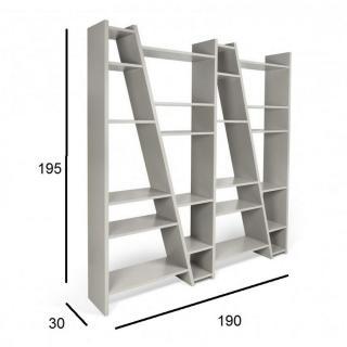 DELTA 4 bibliothèque étagère design grise mate