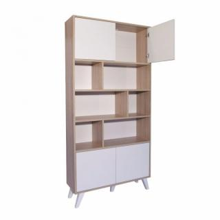 biblioth ques tag res meubles et rangements biblioth que design scandinave square 4 portes. Black Bedroom Furniture Sets. Home Design Ideas