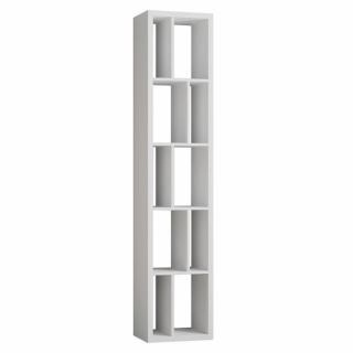 Bibliothèque design RUBY blanc mat largeur : 45 cm