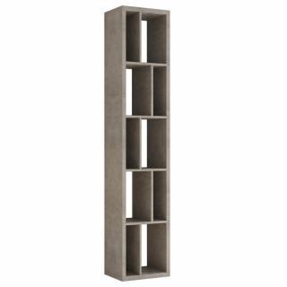 Bibliothèque design RUBY gris béton largeur : 45 cm