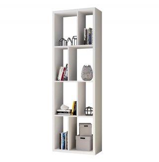 Bibliothèque design RUBY blanc mat largeur : 70  cm