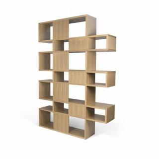 LONDON bibliothèque design 7 niveaux chêne avec fonds chêne