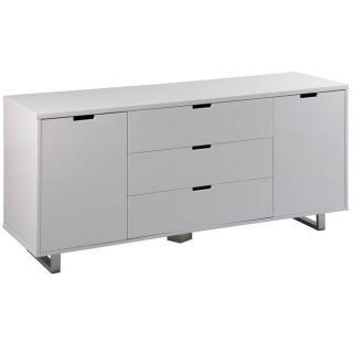 Buffet  AZUR blanc 4 tiroirs & 2 portes