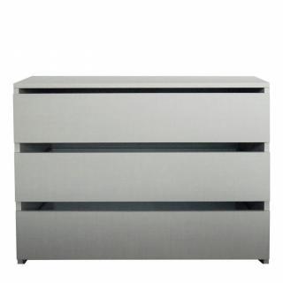 Bloc 3 tiroirs intérieurs largeur 73 cm DECOR GRIS