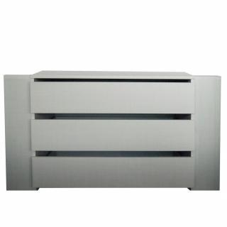 Bloc 3 tiroirs intérieurs largeur 87 cm DECOR GRIS