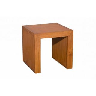 Bout de canapé carré API 40 cm en teck style colonial
