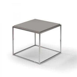 Bout de canapé carré MIMI gris
