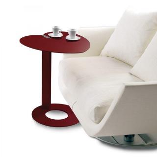 Bout de canapé COEUR design rouge marsala.
