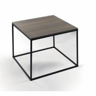 Bout de canapé carré MIMI plateau coloris orme