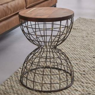 Tables basses INVADER en bois et cuivre
