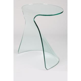 Bout de canapé IRIS en verre courbé
