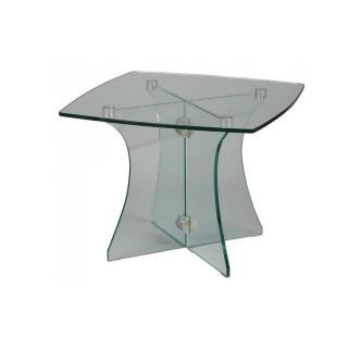 Bout de canapé carré ONYX en verre