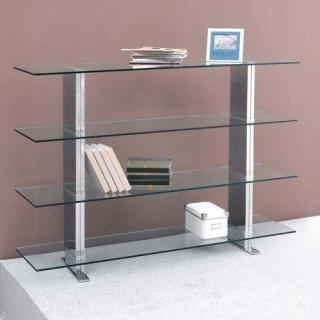 Biblioth ques tag res meubles et rangements brick tag re biblioth que verre m tal design - Etagere metal design ...