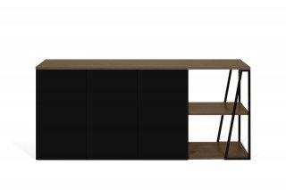 Buffet design ALBI Noyer/Noir