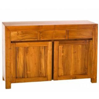 Buffet BALI 2 portes 3 tiroirs en teck style colonial
