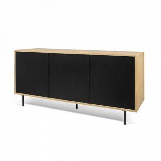 buffets meubles et rangements lime buffet design ch ne avec 3 portes laque noir mat pied en. Black Bedroom Furniture Sets. Home Design Ideas