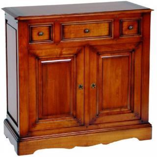 Buffet bas MARCELIN 2 portes et 3 tiroirs en merisier