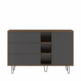 buffets bas meubles et rangements buffet design scandinave lackberg 1 porte 3 tiroirs noyer. Black Bedroom Furniture Sets. Home Design Ideas