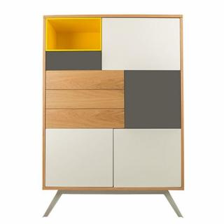 buffets meubles et rangements buffet alps jaune 5 portes 1 tiroir inside75. Black Bedroom Furniture Sets. Home Design Ideas