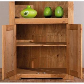buffets meubles et rangements buffet haut rustique mex en pin massif 2 portes battantes et 2. Black Bedroom Furniture Sets. Home Design Ideas