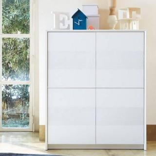 Buffet haut PASSWORD  blanc 4 portes