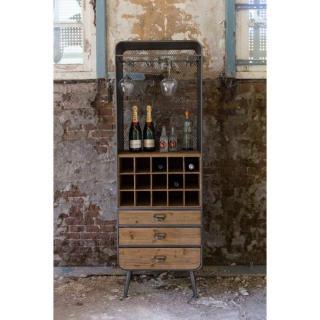 Dutchbone buffet à vin VINO style vintage