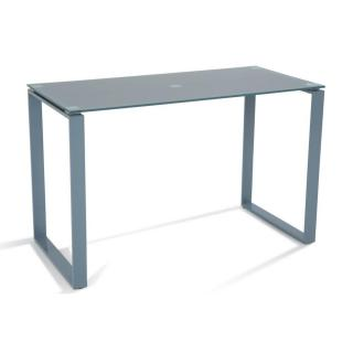 Bureau CHLORIS en verre trempé gris 120 cm