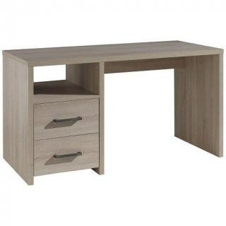 Bureau LUPUS design 2 tiroirs chêne