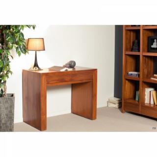 bureaux meubles et rangements bureau 2 tiroirs en teck massif style colonial inside75. Black Bedroom Furniture Sets. Home Design Ideas