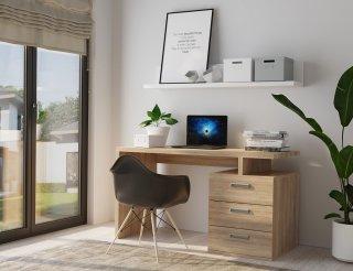 Bureau RUBY 3 tiroirs chêne 120 x 60 cm