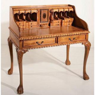 Bureaux meubles et rangements bureau toa bun en teck colonial style vintage - Bureau style colonial ...