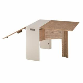 Interesting Butterfly Console Table Repas Modulable Bois Et Crme With Table  Console Extensible Bois Massif