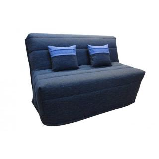 Banquette BZ convertible AXEL bleu marine couchage140*200cm matelas confort BULTEX
