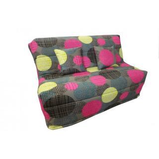 Banquette BZ convertible AXEL à motifs multicolor 140*200cm matelas confort BULTEX