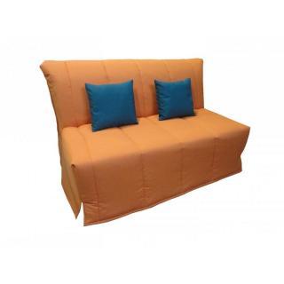 Canapé BZ convertible FLO orange 140*200cm matelas confort BULTEX
