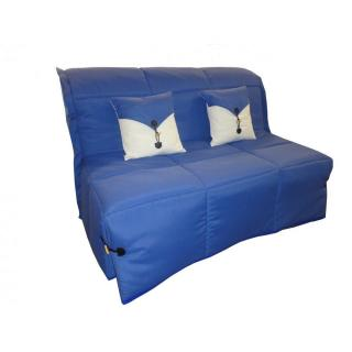 Canapé BZ convertible SOAN bleu 140*200cm matelas confort BULTEX inclus