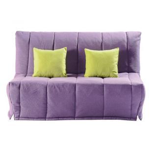 Canapé BZ convertible LOU violet 40*200cm matelas confort BULTEX inclus