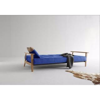 SPLITBACK FREJ d'INNOVATION LIVING Canapé lit design convertible 115*200 cm accoudoirs bois