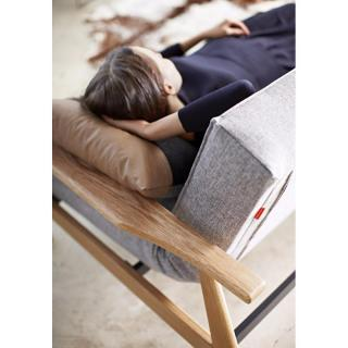 Canapé lit design SPLITBACK FREJ convertible 115*200 cm accoudoirs bois