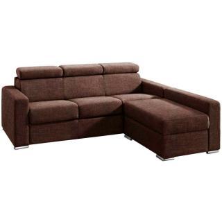 Canapé d'angle 4-5 places FASTER XXL convertible express couchage 180 cm + coffre matelas 18cm sommier lattes