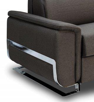Canapé d'angle convertible express DIDEROT 140cm matelas 16cm pieds luge